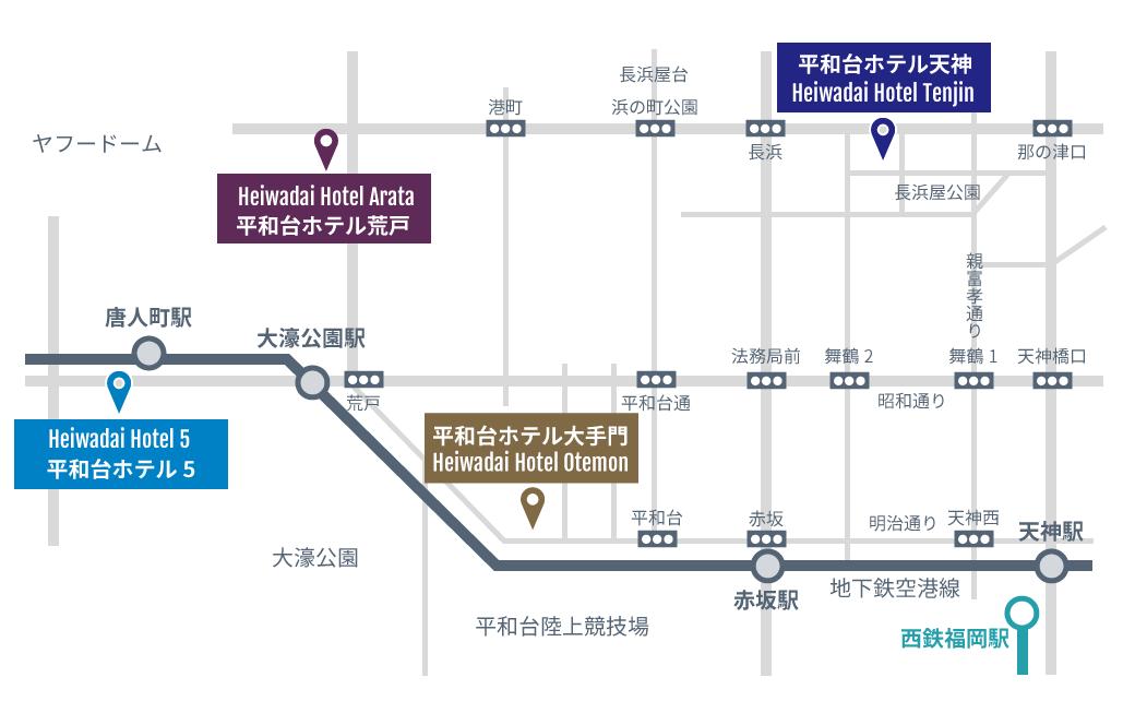 福岡市周辺マップ